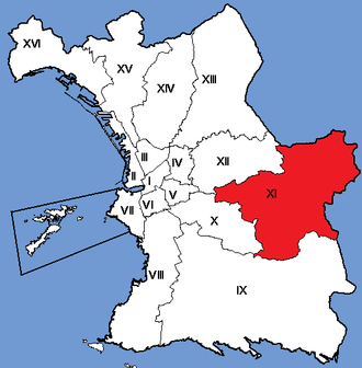 11th arrondissement of Marseille - Image: Marseille Arrondissements 11
