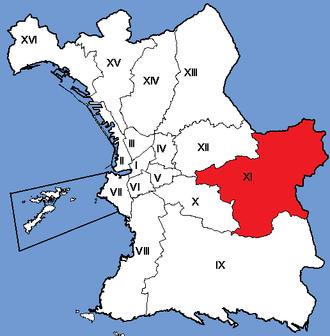 11th arrondissement of Marseille - Image: Marseille Arrondissements 11