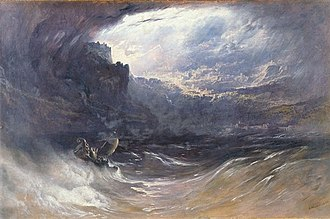 Calming the storm - Image: Martin, John Christ Stilleth the Tempest 1852