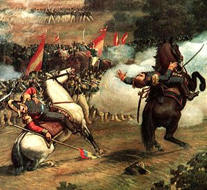 Palacio Federal Legislativo - A scene from  the Battle of Carabobo in the dome of Palacio Federal Legislativo