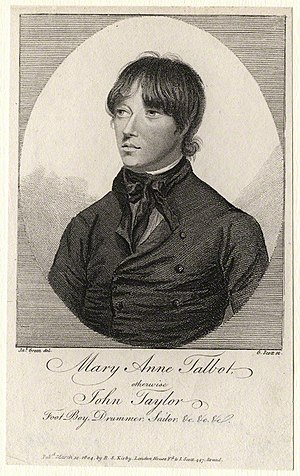 Mary Anne Talbot - An 1804 engraving of Mary Anne Talbot