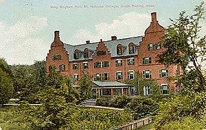 Mary A. Brigham - Mary Brigham Hall at Mt. Holyoke College circa 1920