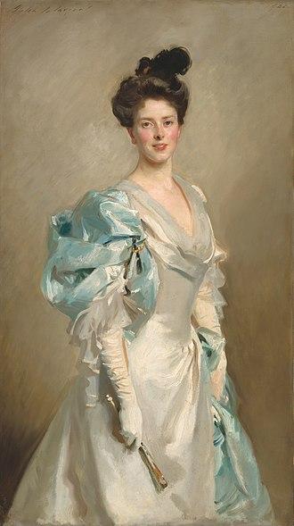 Joseph Chamberlain - Chamberlain's third wife, Mary, by John Singer Sargent, 1902