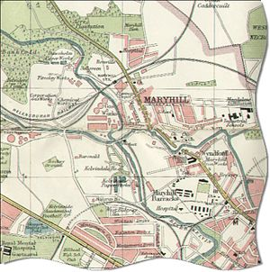 Maryhill - Map of the Maryhill area, circa 1923.
