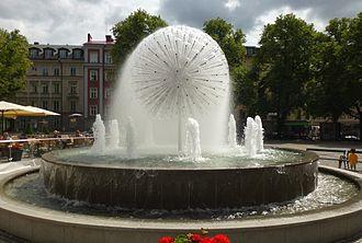 Fountains and ponds of Stockholm - Maskrosbollen, built 1998.