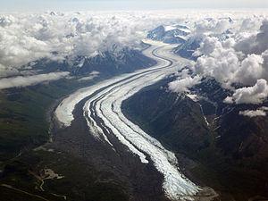 Matanuska Glacier - Image: Matanuska Glacier From The Air