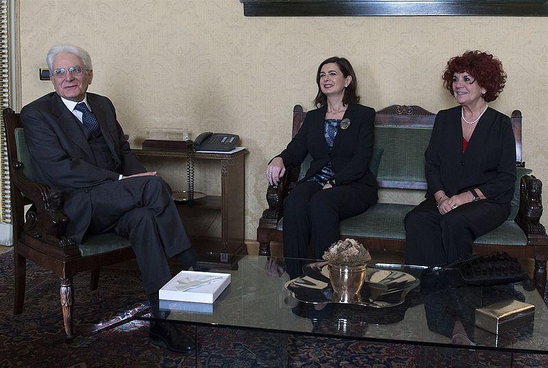 File:Mattarella, Boldrini and Fedeli 2015 1.jpg