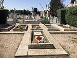 Mausoleo de la Legión Cóndor en el cementerio de la Almudena tras las obras de desmontaje del frontal.jpg