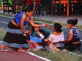 Campeche - Maya family in Campeche
