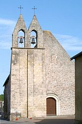 The bell tower of the church in Mazières-de-Touraine