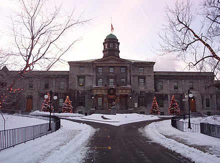McGill University is the oldest anglophone university in the province of Quebec. McGill University Arts Building2.JPG
