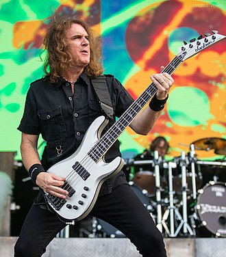 David Ellefson - David Ellefson playing with Megadeth at River City Rockfest in May 2016