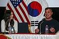 Megan Fox and George Eads at USAG-Yongsan.jpg