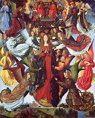 Assumption of the Virgin Mary in art - Image: Meister der Legende der Heiligen Lucia 001