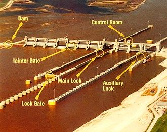 Melvin Price Locks and Dam - Image: Melvin Price Locks and Dam