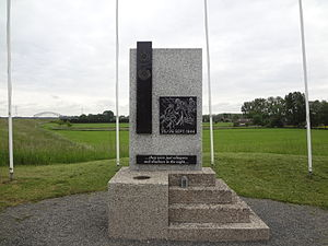 Operation Berlin (Arnhem) - Memorial on the southern bank of the Rhine River, near Arnhem