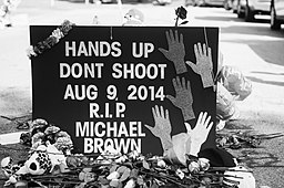 http://upload.wikimedia.org/wikipedia/commons/thumb/2/29/Memorial_to_Michael_Brown.jpg/256px-Memorial_to_Michael_Brown.jpg
