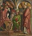 Michael Pacher - Kirchenväteraltar, Flügelaußenseite, Disputation des hl. Augustinus mit den Häretikern - 2600 A - Bavarian State Painting Collections.jpg