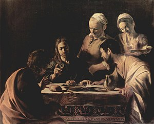 Supper at Emmaus (Milan), 1606. Brera Fine Art...