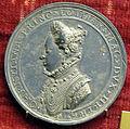 Michele mazzafirri, medaglia di cristina di lorena (e ferdinando I), 1592 (arg, variante giglio).JPG