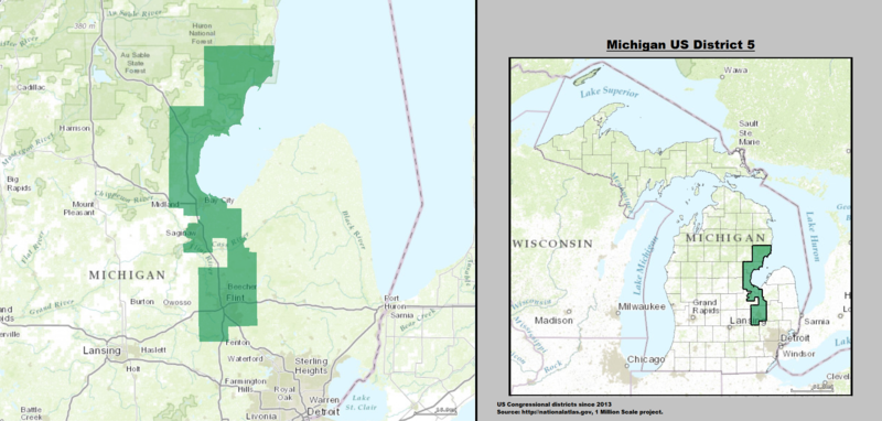 File:Michigan US Congressional District 5 (since 2013).tif