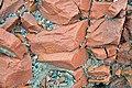 Microsyenite dike (Precambrian; Michipicoten River Bridge South roadcut, south of Wawa, Ontario, Canada) 11 (47924664791).jpg