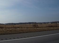 Farms and woodlots along Interstate 71