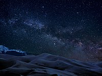 Milky Way over dunes in Great Sand Dunes National Park, Colorado, United States.jpg