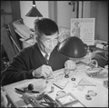 Minidoka Relocation Center, Minidoka, Washington. Watch repair shop. Sokichi Hoshide, head watch-maker. - NARA - 536542.tif