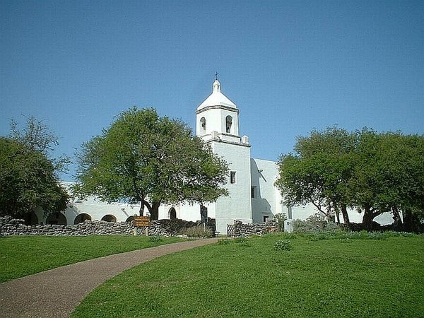 "Mission Nuestra Senora del Espiritu Santo de Zuniga was established in 1749, and referred to as ""Mission La Bahia"" Mission la bahia.jpg"