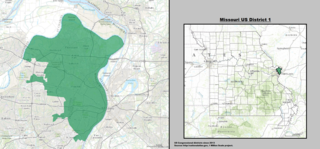 Missouris 1st congressional district U.S. House district around St. Louis, MO