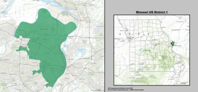 Missouri's 1st congressional district - since January 3, 2013.