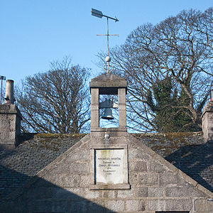 Mitchell's Hospital Old Aberdeen - Mitchell's Hospital Bell Tower - foundation date and the date of the early Twentieth Century alterations