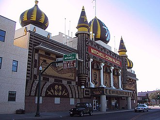 George McGovern - The Corn Palace, a longtime sight of McGovern's hometown of Mitchell, South Dakota