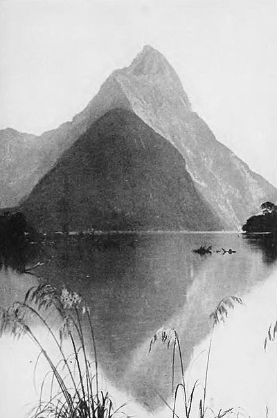 Mitre peak, milford sound-Picturesque New Zealand, 1913.jpg