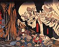 Mitsukuni defying the skeleton spectre invoked by princess Takiyasha (cropped).jpg