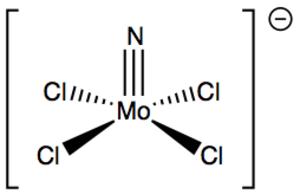 Metal nitrido complex - Image: Mo N Cl 4 anion