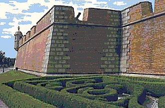 Fort Charlotte, Mobile - Image: Mobile Alabama Fort Conde fortress replica art