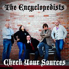 Mock album cover, The Encyclopedists - Check Your Sources.jpg