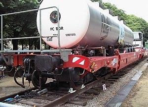 Modalohr - Loaded Modalohr wagon