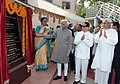 Mohd. Hamid Ansari unveiling the plaque of Centenary Plety on the occasion of the Centenary Celebrations of Shailabala Women's College, in Cuttack, Odisha. The Governor of Odisha.jpg