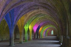 Cellarium - The cellarium of Fountains Abbey, England