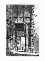 Monografie de la Cathedrale de Chartres - 23 Porche du Nord - Lithographie.jpg