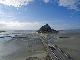 Le Mont-Saint-Michel with new bridge, 2018