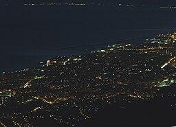 Panorama notturno Monte Fasce - Genova