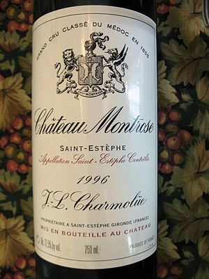 Château Montrose - Château Montrose label from the 1996 vintage