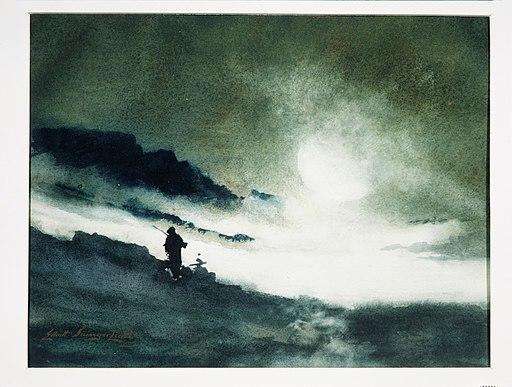 Moon Rising over Fog Clouds MET APS2390