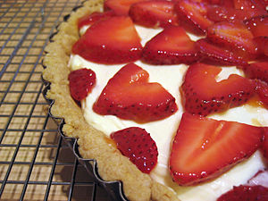 Moosewood strawberry mascarpone tart.
