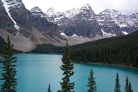 Le lac Moraine – Parc national Banff