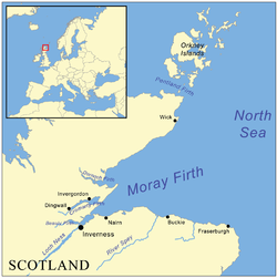 Carte du Moray Firth.